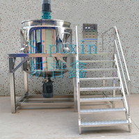 500L electric heating oil blending plants, liquid mixing machine for shampoo/lotion/ liquid soap