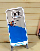 Transparent Dynamic Liquid Glitter Color Quicksand Back Cover Case for Samsung Galaxy S6 Phone cases