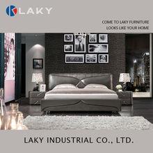 Italiano lk-lb123 europa estilo de cuero negro de la cama en la promoción