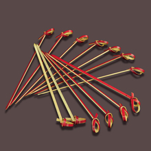 100% natural disposable decorative party color flat bamboo sticks