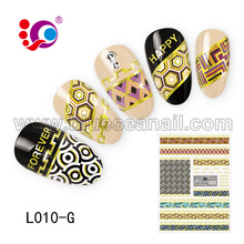 Remove ink seal flowers stencil nail art