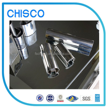Hot selling !!! 201/202/301/304 BA Finish decorative perforated stainless steel tube