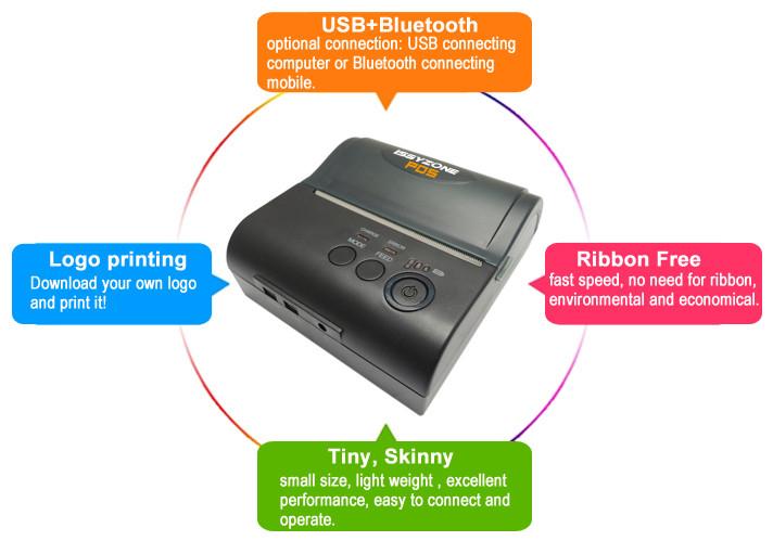 2016 android thermique sans fil mini mobile bluetooth 80mm. Black Bedroom Furniture Sets. Home Design Ideas