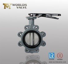Carbon Steel/WCB handle/lever/manual/wrench butterfly valve