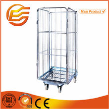 Stackable warehouse folding wire roll container/ roll cage