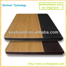 Shenzhen factory wood leather cover for ipad 2/3/4 case