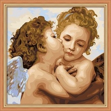 40*40cm handpainted baby angel painting, oil painting of angel