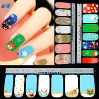 42Pcs Christmas Nail Art Sticker Full Wrap Patch Decal For Fingers Natural/False Nails