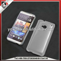 Fashionable and factory price cheap mobile phone TPU case for HTC One M7