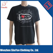 High quality 95% cotton 5% spandex plain t shirt ,oem t shirt for men and women