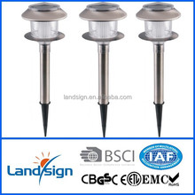 NEW solar outdoor lighting type solar garden light series stainless steel+PP+GPPS super bright solar garden lawn light