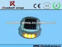 Aluminum Solar Road STUD Path Deck Dock Warning Light with 6LED Driveway LAMP