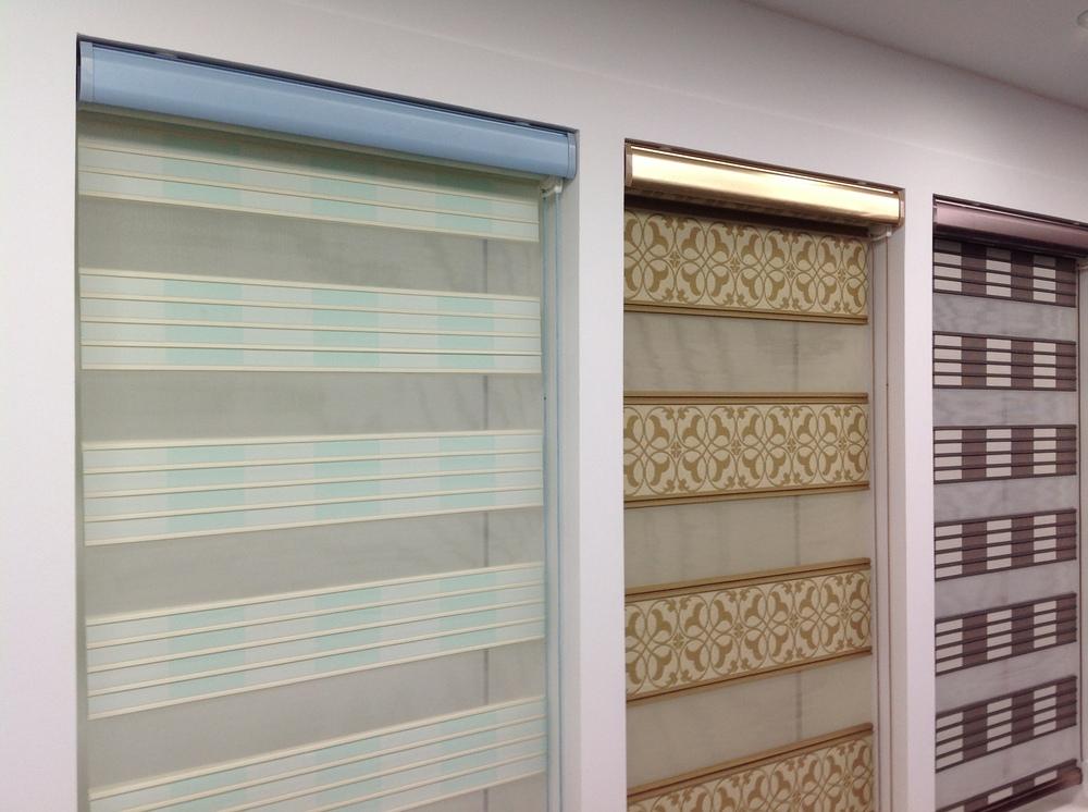 El último diseño de moda día y noche cebra pura cortina/zebra ...