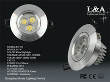 Hot Sale! option recessed led downlight BY-351