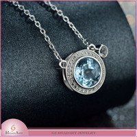 China wholesale cheap 2015 fashion pure silver necklace