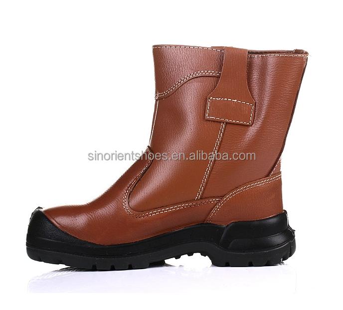 high heel miners steel toe safety shoes waterproof
