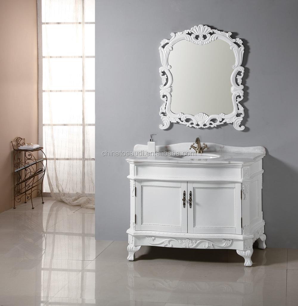 wood bathroom cabinet free standing storage sink vanity with mirror
