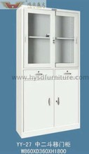 Half glass silding door file cabinet cheap display cabinet YY-271505