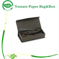 luxury design balck print magnetic paper glass packaging boxes, cardboard box sunglasses with flock insert