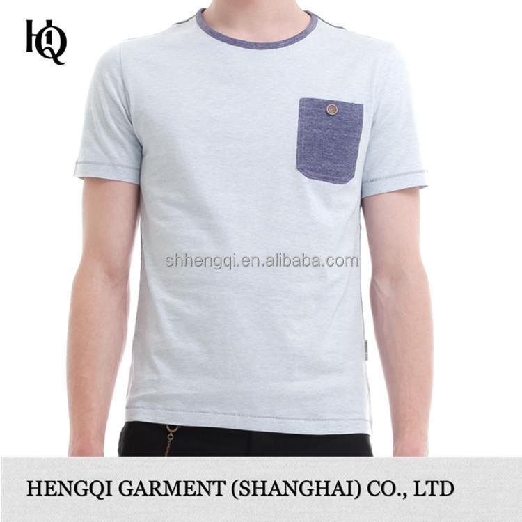 High end mens cotton plain round neck t shirt wholesale for High end mens shirts
