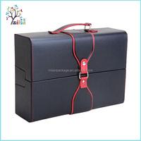 French Custom Design Leather Wine Gift Box