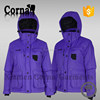 Wholesale plus size customized purple women waterproof 100% polyester crane sports ski wear