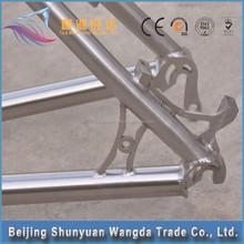 custom full suspension titanium mountain bike frame