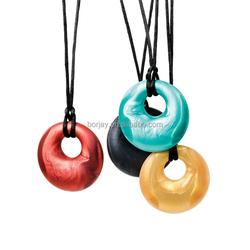 Latest design beads necklace Baby Silicone Teething pendant