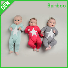 Wholesale comfortable and soft 70% Bamboo 30% Cotton baby romper set