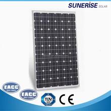 100w -120w photovoltaic mono solar panels for solar energy street light