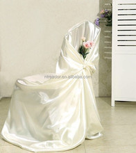 chair cover satin fabric /decorative wedding banquet satin chair cover