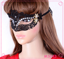 Wholesale European and American fashion Halloween mask black lace mask