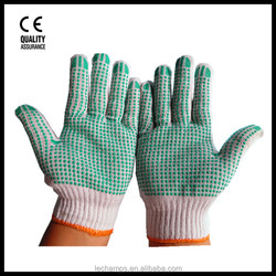 Cotton Knitted Gloves Seamless Gloves with PVC dots