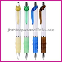 Promo plastic click ball pen premium gifts, with scent rubber grip