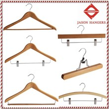 BF6611N Custom wooden bamboo clothes hangers /bamboo hanger
