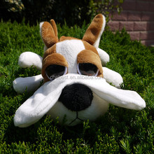 Lastest design dog looking with big eyes lying in the grass