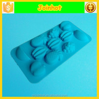 Apple, banana, grape and pineapple shaped silicone molds fruit for sweet and candy