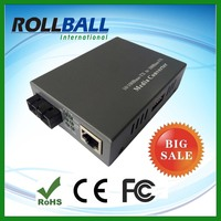 High performance Internal or External switching power 10 100m fast ethernet media converter