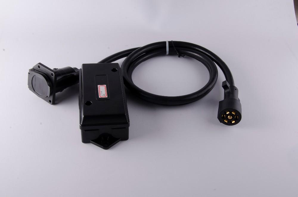 J100481 7 Way Roj Plug Inline Trailer Cord With 7 Gang/pole Weather ...