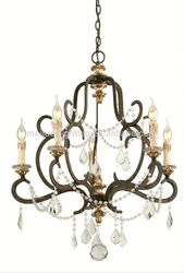 Latest design crystal ball metal drum steel frame led chandelier pendant lighting light