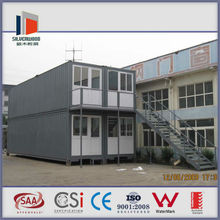 two-storey China low cost prefab modified shipping container with CE certificated