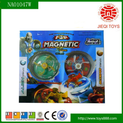 2015 New product children toy electric magnetic top toys with light