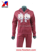 spring autumn lady's leisure fleece sports suit