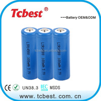 cylinder 3.7v 14500 lithium ion battery 750mAh