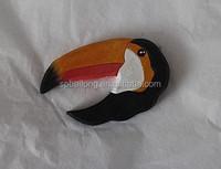 Mini wooden laser cut magnet animals