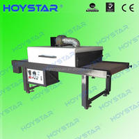 Tunnel screen printing textile drying machine