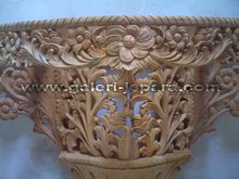 Finished Furniture - Carving Console - Mahogany Timber - Heavy Carved with Gold Painted