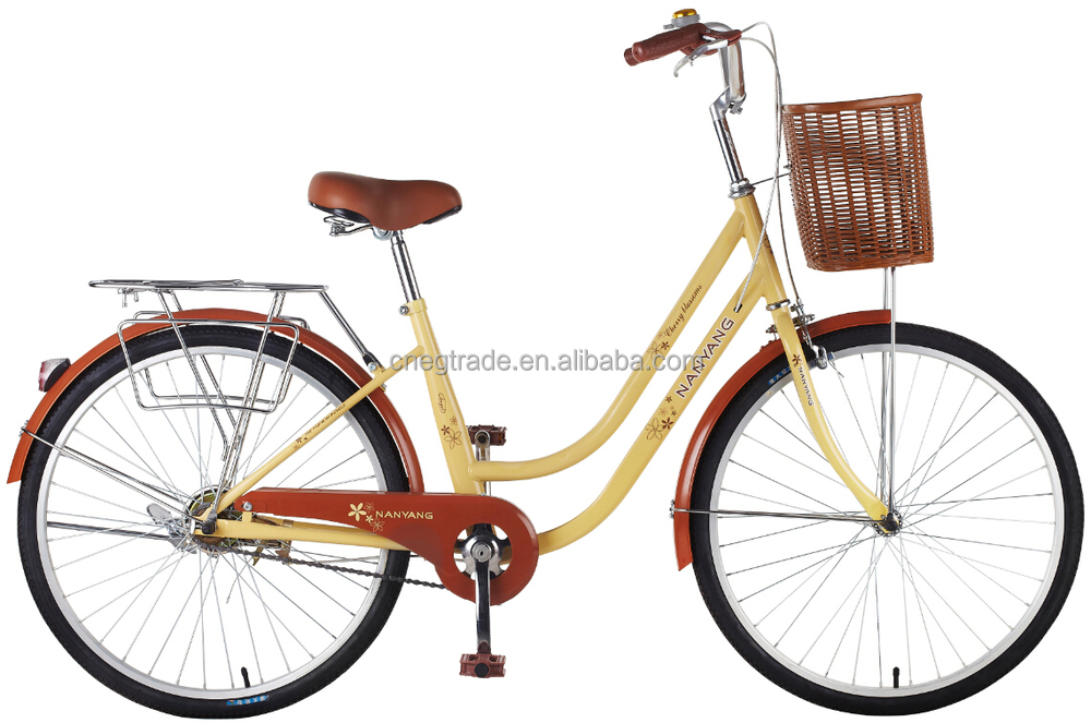24 city bicycle fashion retro bicycle lady pastoral style bike