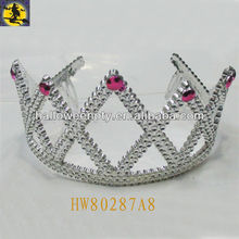 Small White Plain Plastic Tiara Designed for Party Queen