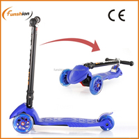2015 new CE EN71 3 wheel folding manual pedal push 120/80mm kids kick scooter with new design